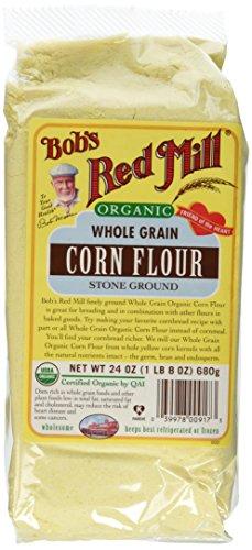 Bob's Red Mill Organic Whole Grain Corn Flour Stone Ground (24 ounces)