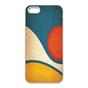 Vector Series, IPhone 5,5S Cases, Abstract Scenery Vector Cases for IPhone 5,5S [White]