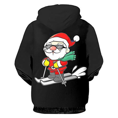 Sudaderas Con De Impreso Capucha Árbol Jersey Animal En 03506 Invierno Calaveras Navidad 3d Forma Hombre FFrqUndwB