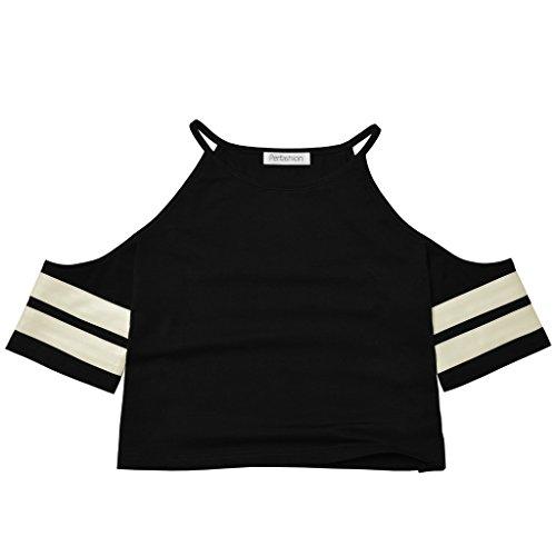 Perfashion - T-shirt - Femme - Épaule ouverte