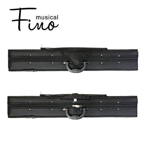 1/2 Size Violin Case,FINO Professional Oblong Violin Hard Case with Built-in Hygrometer,Super Lightweight Portable Carrying Bag Slip-On Cover with Backpack Straps (1/2) 41zzH0DbFnL