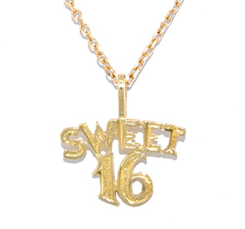 (14K Yellow Gold Sweet 16 Charm )