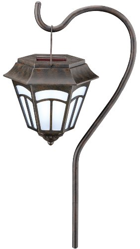 Moonrays 91720 Berwick Style Solar Powered Path Light, Stake or Hanging, 2-Pack