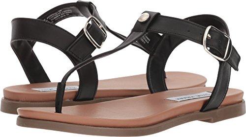 Steve Madden Women's Bonnie Black Leather 7.5 M (Bonnie Black Leather)