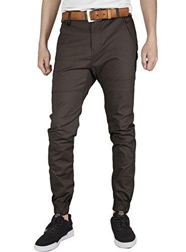 Gris Italie Devant Simple Tourbe Chinese Khaki Fit Noir Morn Slim Jogging Pantalon Extensible Men Coton Plat Robe En Sergé rPrCUnqf