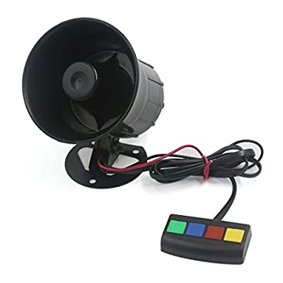 uxcell Motorcycle Car 4 Tone Sounds Loud Security Warning Siren Horn DC 12V