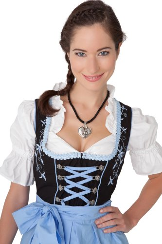 Dirndl-Womens-3-Piece-Midi-Dirndl-with-Floral-Embroidery
