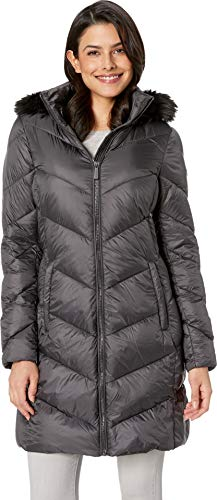 - MICHAEL Michael Kors Women's Zip Front Down Coat M823815GZ Gunmetal X-Large