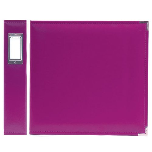 We R Memory Keepers 30655-9 Classic Leather 3-Ring Binder Album, 12 by 12'', Plum, Grape Soda by We R Memory Keepers