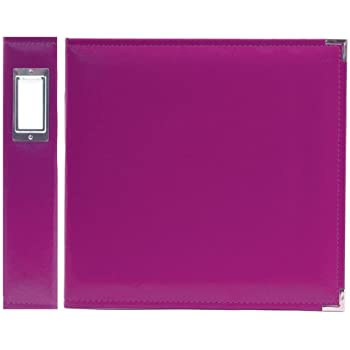 We R Memory Keepers Classic Leather 3-Ring Album -  8.5 x 11 inch, Grape