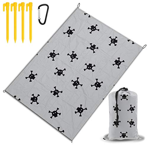 GHDSKH Bitty Skulls 2256(2020) Beach Blanket Sand Proof and Waterproof Pocket Sized Picnic Mat Outdoor Beach Mat for Camping, Travel, Hiking, Festival and Sports ()
