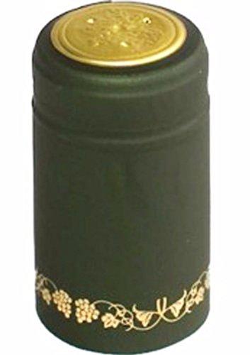 Green Gold Grapes PVC Shrink Capsules Green Wine Bottle