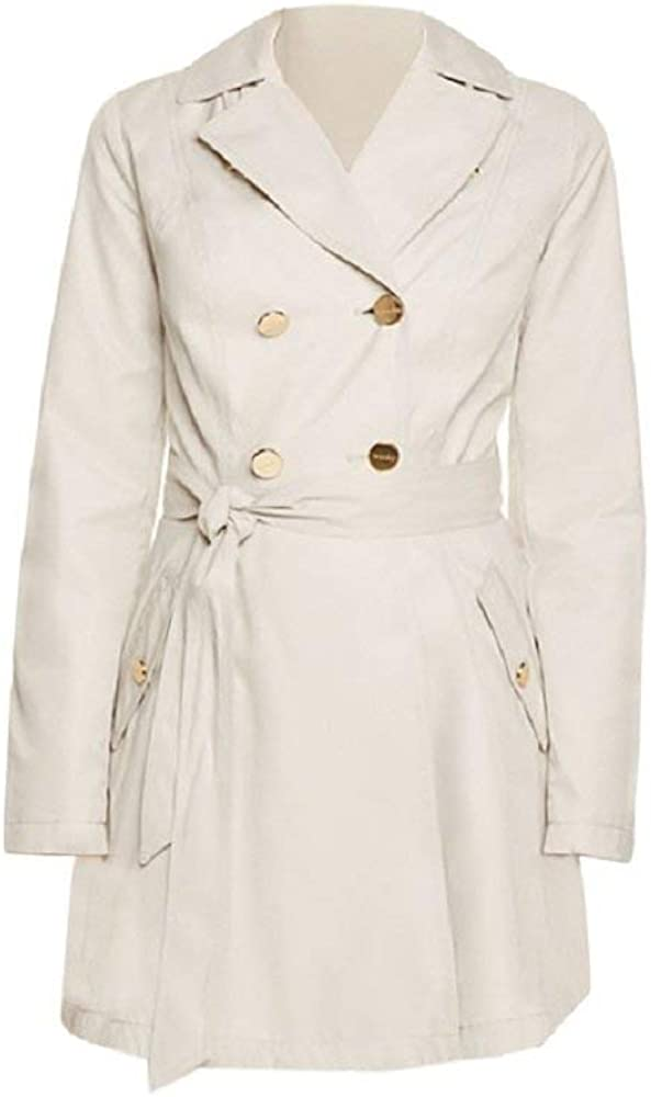 Laundry by Shelli Segal Fit & Flare Beige Trench Coat