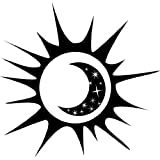 Sun And Moon Living Room Picture Art - Peel & Stick Vinyl Wall Decal Sticker Size : 20 Inches X 20 Inches - 22 Colors Available by Design With Vinyl Decals