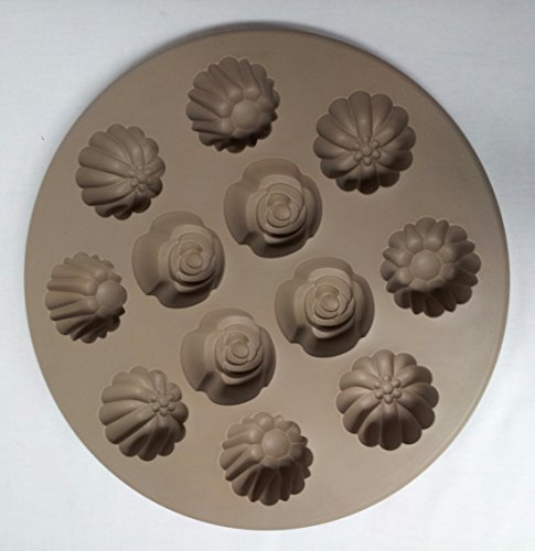 Pampered Chef #1613 Silicone Floral Cupcake Pan
