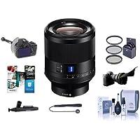 Sony Planar T FE 50mm F1.4 ZA Lens - Bundle With 72mm Filter Kit, Flex Lens Shade, FocusShifter DSLR Follow Focus, Cleaning Kit, Lens Wrap, Lenscap Leash, Lenspen lens Cleaner, Software Package