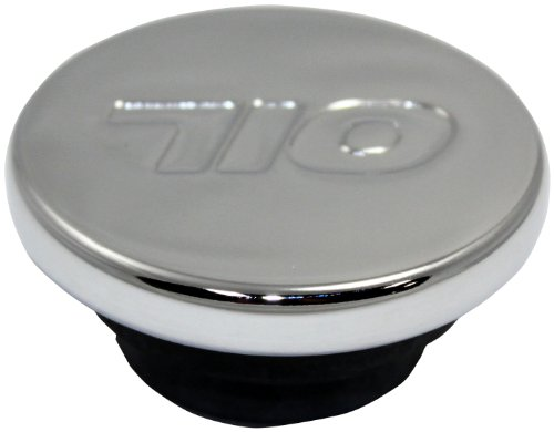 Mota Performance A70187 Chrome Push-In Valve Cover Oil Filler Breather Cap with Oil Logo