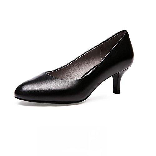 Talons Dames Travail Femmes Hauts Talon Formel 5cm Pompe 7cm Escarpins Noir nbsp; Office Sunny 5 5EqYE