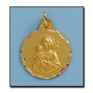 Médaille D'or 18kt San Jose 21mm