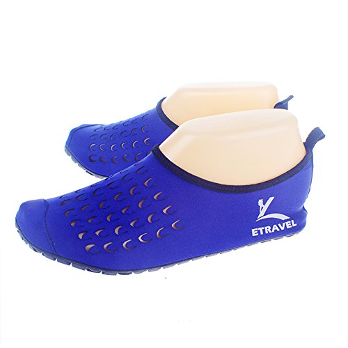Cevinee �?(Update Version) Slip-On Water Schuhe, Anti-Rutsch-Aqua-Socken, atmungsaktive Beach Swim Surf Yoga Outdoor Soft Schuhe Blauer Punkt