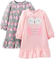 Simple Joys by Carter's Girls' Little Kid 2-Pack Fleece Nig