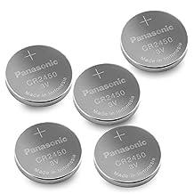 5pcs Panasonic CR2450 3V Lithium Cell Battery