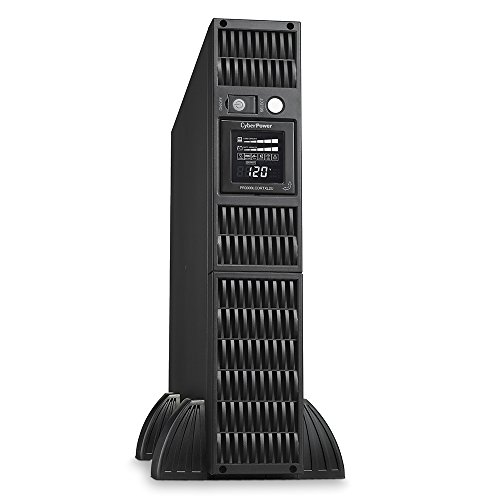 CyberPower PR3000LCDRTXL2U Smart App Sinewave UPS System, 3000VA/3000W, 8 Outlets, AVR, 2U Rack/Tower by CyberPower