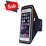 Causalyg Water Resistant Cell Phone Armband Case for iPhone X/8/7/6 Plus, Samsung Galaxy S9, S8, S7, S6 with Adjustable Elastic Band, Phone Running Holder Arm Band for Running, Workout, Hiking