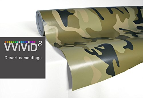 (VViViD XPO Desert Camo vinyl car boat vehicle wrap 5ft x 3ft vinyl car boat vehicle wrap self adhesive stretch conform decal DIY)