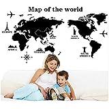 ملصقات فنية لخريطة العالم من ملصقات ملصقات فنية من الخرائط، ملصقات جدارية لديكور غرفة المعيشة، مكتب ديكور المنزل