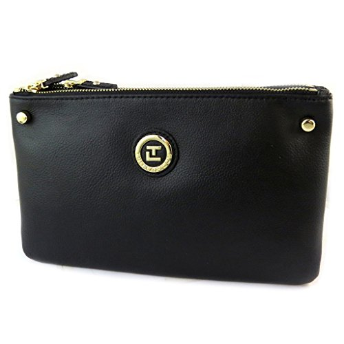 Leather Bag 'lapidus'negro Ted (2 Bays) - 26x15x4 Cm.
