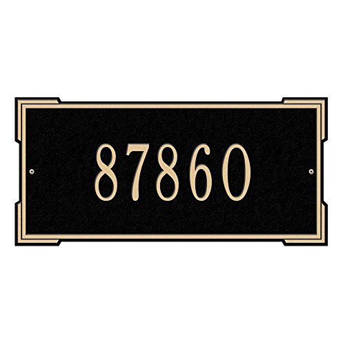 Whitehall Products Rectangular Roanoke Standard Wall 1-Line Address Plaque - (Roanoke Wall Plaque)