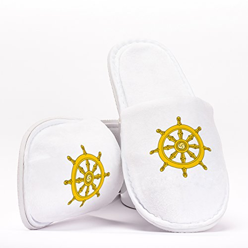 Wheel of the Dharma Chakra Jainism Buddhism and Hinduism Symbol Pantuflas de Talla Única