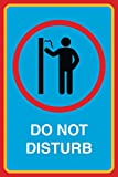 Do Not Disturb Print No Knocking On Door Man Picture Notice Office Business Sign Aluminum Metal