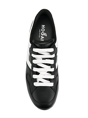 HXW2220T548KLA0002 Black Leather Hogan Women's Sneakers White ROq5Tw