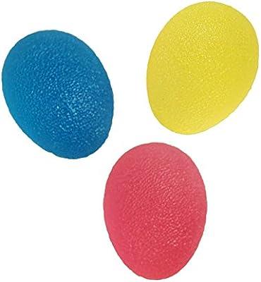 lzndeal 3 pcs bola oval huevo pelota de Gel de descompresión ...