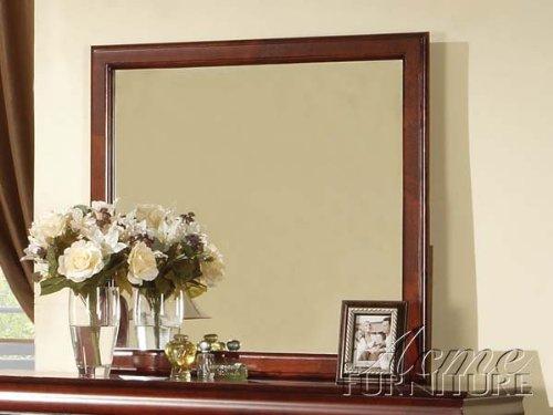 Louis Philippe Cherry Dresser (Acme 19524 Louis Philippe III Mirror, Cherry Finish)