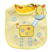 Cute Cartoon Pattern 3 Layer Toddler Baby Waterproof Saliva Towel Baby Bibs (Giraffe Pattern 1)