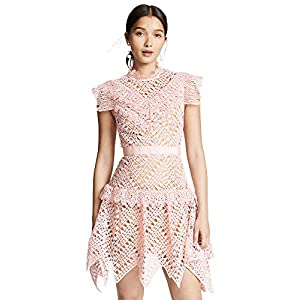 Self Portrait Women's Abstract Triangle Lace Dress