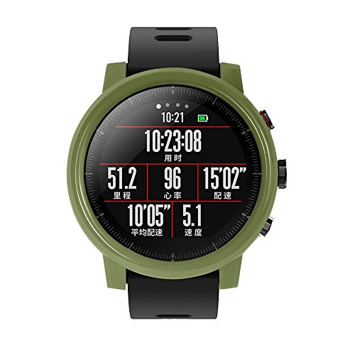Sietor Slim Frame Colourful PC Case Cover Protect Shell Case for Huami Amazfit Stratos Smart Watch 2/2S(GN)