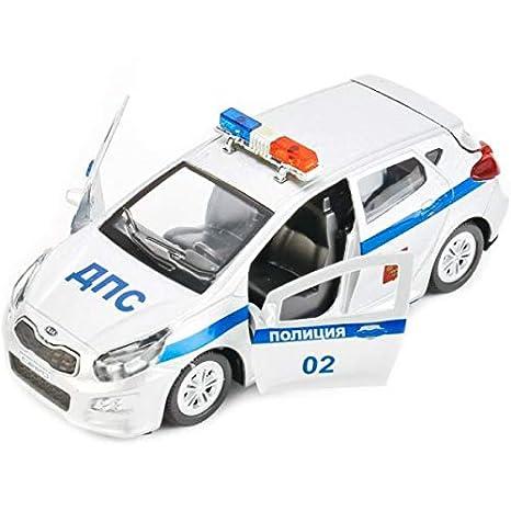 Amazon Com Diecast Metal Model Car Kia Ceed Russian Police Toy Die