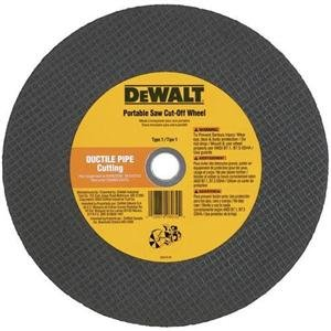 DEWALT DW8030 Ductile Pipe Port Cut-Off Wheel, 14-Inch X 1/8-Inch X 1-Inch ()