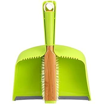 Full Circle Clean Team Brush & Dustpan Set, Green