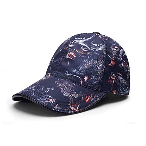 SLH メンズサマーウルフトーテム野球帽春夏ラバーズアウトドアスポーツ日焼け止めカップルキャップ
