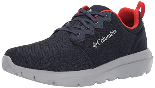 Columbia Men's Backpedal Outdry Shoe, collegiate navy, fiery red, 11.5 Regular US