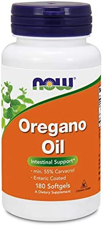 Now Foods Oregano Oil Minimum 55 Carvacrol 181mg, 180 Softgels High Potency Digestive Support Supplement, Promotes Gut Health, Natural Antibiotic – Kosher – 180 Servings