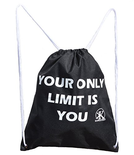 Bag Drawstring Unisex Lightweight Strong Durable Black Drawstring Backpack For Training, Camping, School and Everyday Life For Sale