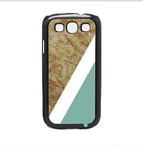 Teal Geometric Shape on Tan Marble Hard Snap on Phone Case (Galaxy s3 III)