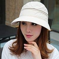 DAYUANDIAN Sombrero de Verano para Sol para Mujer - Sombrero de Pesca de ala Ancha con Solapa de Cuello Grande Protección Solar UPF 50+ Sombrero de Cubo de enfriamiento de Verano (extraíble)