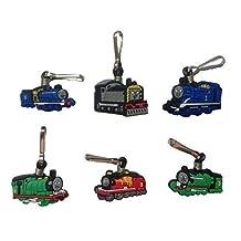 Thomas and Friends Snap Hook Zipper Pulls 6 Pcs Set #1